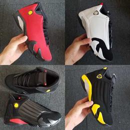 2019 nouveau 14 chaussures de basket-ball dernier coup du sable du désert élevé black toe voiture rouge noir jaune hommes femmes chaussures de formateurs Jumpman taille 5.5-13 ? partir de fabricateur