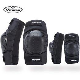 Rodilleras de rodillas de carrera online-2018 Top VEMAR VM-183 Sports Safety rodilleras de motocicleta y Codo / racing rodilleras off-road / riding Rodilleras de codo / rodilleras de bicicleta Codo