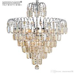 2018 Lámpara de Luz de Araña de Cristal de Lujo Lustres de Cristal Colgando Iluminación de Cristal para Villa Decoración Del Hogar desde fabricantes