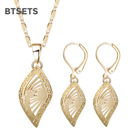 Wholesale Costume Jewellery Wholesalers - BTSETS Indian Bridal Jewelry Sets For Women Dubai African Beads Jewelry Set Gold Color Fashion Nigerian Costume Jewellery Set