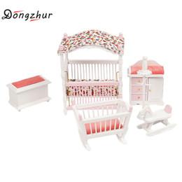 Mini Möbel Set Kids Pretend Play Spielzeug Schrank Schreibtisch Stuhl Bett Puppenhaus Schlafzimmer Möbel Spielen Haus Spiel Spielzeug StraßEnpreis Sammeln & Seltenes Möbel Spielzeug