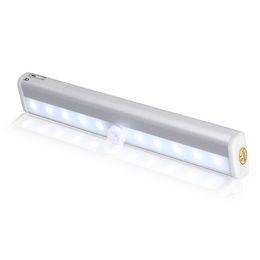Wholesale Ir Motion Detectors - TDL-71210 LED IR Infrared Motion Detector Wireless Sensor Closet Cabinet Light Lamp High Bright High Sensitivity Energy Save