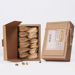 papierkiste handwerk Rabatt Kraftpapiergeschenkpapierkasten mooncake Süßigkeiteinzelverkaufsverpackungskraftpapierkasten-Teebox 16 * 10 * 5.2cm QW8245