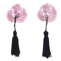 Wholesale Hot Sexy Toy - Hot New Sexy Sex Product Toys Women Lingerie Sequin Tassel Breast Bra Nipple Cover Pasties Stickers Petals 0IQA