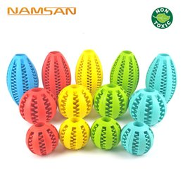 ball foods Promo Codes - Healthy Teeth Cleaning Ball Food Treat Dispenser Pet Natural Rubber Dental Treat Oral Toy Chewing toys For Dog Health Care
