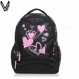 Wholesale Cheap Boys Bags - VEEVANV 2017 Hot Sale School Bags For Girls Women Printing Backpack Cheap Shoulder Bag Wholesale Kids Children Backpacks