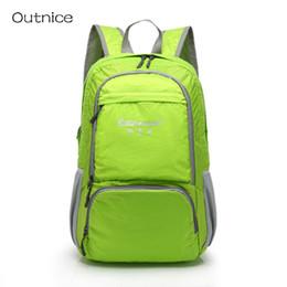 Wholesale Travel Back Bags For Men - Wholesale- 25L Lightweight Foldable Backpack Walking Rucksacks Carry on Backpack Daypack Waterproof Travel School Back Pack for Men Women