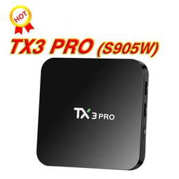 Wholesale quad flash - New TX3 PRO Amlogic S905W Android 7.1 TV Box 1GB DDR3 8GB FLASH Quad Core Media Player Smart Ott Boxes Better S905W X96