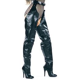2019 lederstiefel mit hohen stiefeln Rihana 2019 Mode Frauen Leder Lange Stiefel Winter Herbst Spitz über der Knie Hohe Ferse Schritt Schritt STIEFEL zapatos de mujer günstig lederstiefel mit hohen stiefeln