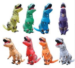 venom traje preto de aranha Desconto Adulto T-REX Traje Inflável Animal De Dinossauro de Natal Macacão Halloween Traje para As Mulheres Homens WSJ-25