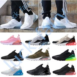Wholesale High Loafers - 2018 New summer high qualit 270 Sneakers Mens Running Shoes Men 27C Flair Triple Black white Sport Boots Women Sport Shoes(With Box)