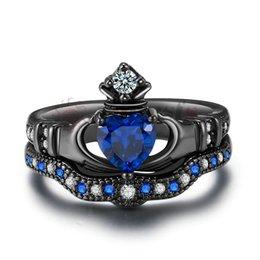 Dimensioni dell'anello swarovski online-natale regalo di Moda austriaco di cristallo 18K Oro Bianco Placcato Utilizzato Cristallo Swarovski Amante Anello di pietre preziose gioielli set S061W1 5pcs