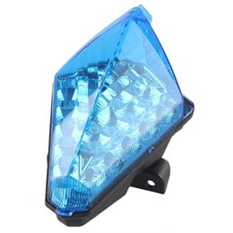 Wholesale Motorcycle Brake Lamp - ALLGT Motorcycle LED Tail light Brake Turn Signals Lamp Fit YAMAHA YZF R1 2007 2008 Clear Blue