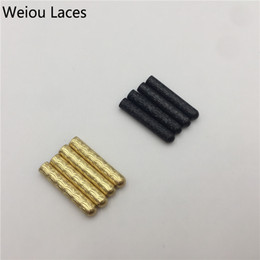 guns shoes Coupons - Weiou 4x22mm DIY Metal Aglets 4pcs Crescent Shape With Gold Gun Black Luxury Shoelaces Decorations Close Mouth Metal Tips For Sneaker Shoes