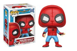Wholesale pop figures - popular Funko POP Marvel Spider-Man Homecoming The Joker Action figures Toy Captain america Ironman Black Widow X-Man Hulk oth617