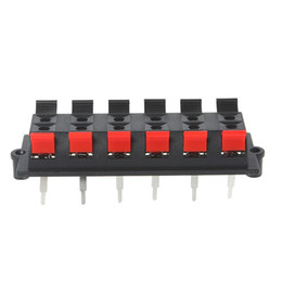 12 Vía 2 Fila de lanzamiento del empuje del bloque regleta de conectores de la placa terminal del altavoz estéreo desde fabricantes