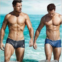 Wholesale White Swimsuits Sale - Y503 Hot Sale Sexy Boxers Trunks Man Swimwear Briefs Shorts Summer Men Swimsuit Beach Shorts Briefs Bathing Suit Shorts Man