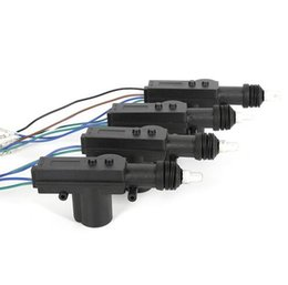 Wholesale Wholesale Car Alarms - Universal Car Auto Remote Central Alarm Security Kit 4 Door Bracket Locking Keyless Entry System 12V auto Locking System Motor EEA214