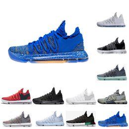 the latest c9246 a11c0 2018 KD 10 Multi-Color Oreo Zahlen BHM Igloo Männer Basketball Schuhe KD 10  X Elite Mitte Kevin Durant Sport Turnschuhe Größe US 7-12 günstig kd elite  ...