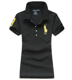 venta al por mayor de la muchacha de la cabeza Rebajas Nueva camiseta casual de manga corta de las mujeres 2018 de la nueva manera de la moda PoIo