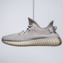 Wholesale canvas casual sneakers - 2018 SESAME BUTTER Women Mens Running Shoes Sneakers for Men ICE YELLOW Boost 350 V2 Designer Luxury Sport Canvas Casual Shoe