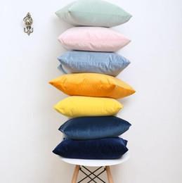 sedie africane Sconti Modo creativo di colore solido di alta qualità semplice europeo moderno retrò olandese velluto velluto federa divano cuscino copertura all'ingrosso