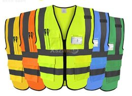 Wholesale Unisex Clothes Plus Size - High Quality High Visibility Reflective Vest Working Clothes Motorcycle Cycling Sports Outdoor Reflective Safety Clothing