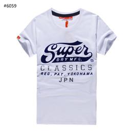 Wholesale Round Collar Shirt Men - New Brand Superdry T-Shirt Men's Short Sleeve Cotton Jersery Tee Shirts Print Super dry Round Collar Casual Shirt Tops