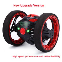 Wholesale Channel Wheels - New Upgrade Version Jumping Bounce Car Sj88 Rc Cars 4ch 2 .4ghz Jumping Sumo Rc Car W Flexible Wheels Remote Control Robot Car