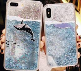 Schönes designtelefon online-Schönes Design Glitter Liquid Quicksand Phone Cases für iPhone Case Bling Unicorn Wasser Pailletten Paris für iPhone 7 8 Plus X Hülle