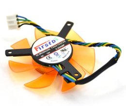 Wholesale Computer Fan Temperature - FD5010U12S diameter 47mm hole distance 39mm 12V 0.22AMP 4P temperature control card fan