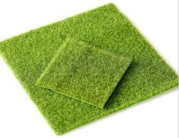 миниатюрные садовые украшения Скидка Искусственная зеленая трава DIY поддельные мох миниатюрный сад орнамент ремесло 15x15cm