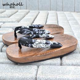 a030494bdd sandálias japonesas Desconto GOLO WHOHOLL Sandálias de Verão Homens  Sandálias de Plataforma Plana Japonês Geta Chinelos