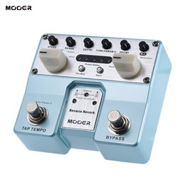 Wholesale Mooer Guitar Effects - Wholesale-MOOER Reverie Reverb Guitar Effect Pedal 5 Reverberation Modes 5 Enhancing Effects with Two Footswitch