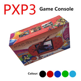 Wholesale Tv Video Cables - 2018 New PXP3 Slim Station Video Game Player 16Bit Handheld Portable Game Console PXP 3 With AV Cable Game Card US Plug Battery Packing Box