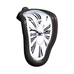 3d derreter on-line-90 Graus de Dobra Tempo 3d Originalidade Da Parede Digital de Superfície do quarto De Metal de fusão Acrílico espelho assento relógio mecanismo decorações