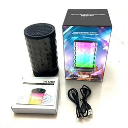 Wholesale Battery Loudspeaker Bluetooth - A2000 true wireless stereo bluetooth speaker TWS supper bass subwoofers bluetooth v4.2 LED pulsating loudspeaker with 1200mah large battery