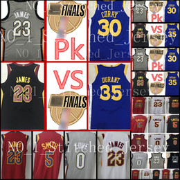 Wholesale Quick Stop - 2018 Finals Bound Break 23 LeBron James 5 JR Smith 0 Kevin Love Jersey VS #30 Stephen Curry 35 Kevin Durant Finals Basketball Jerseys