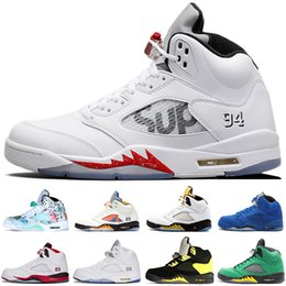 12fd4f15cc5f Cheap New 5 5s Wings International Flight Mens Basketball Shoes Red Blue Suede  White Cement Black Metallic sports sneakers designer trainers