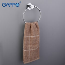 Wholesale towel ring bathroom accessories - Gappo 1 Set Modern Style Gold Ring Wall Mount Towel Ring Bathroom Accessories Bath Towel Holder Bath Hardware GA1804