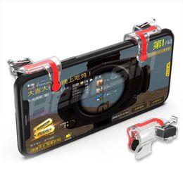 Controlador de realimentación de fuerza online-1 par de controladores de pantalla Gamepad con el objetivo de disparar el juego Assist Force Feedback juego de disparar para el teléfono celular