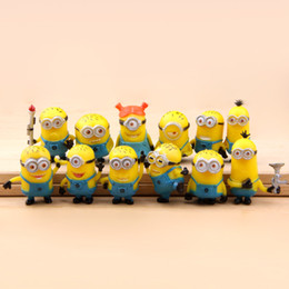 Wholesale Low Priced Toys - 2018 Top Fashion Sale 12-14 Years Yellow Pvc 12 Small Me2 Action Figure Ornaments Wholesale Despicable Me Manufacturer Supply Low Price