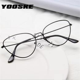 ac1bef2f5ea vintage aluminum eyeglass frames Coupons - YOOSKE Cat Eye Vintage Glasses  Frame Women Clear Frame Glasses