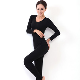 Wholesale Ladies Warm Shirts - 2016 New Women's Winter Thermal Underwears Fashion Seamless Breathable Warm Long Johns Ladies Slim Underwears Sets Free Shipping