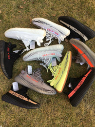 Wholesale Blue Green Shoes - Semi Frozen Yellow B37572 Gum Sole 350 Boost v2 Beluga 2.0 B37571 Blue Tint SPLY 350 Boost Zebra Black Red Running Shoes