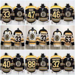 Wholesale brad marchand - 37 Patrice Bergeron 2018 Boston Bruins 33 Zdeno Chara 73 Charlie McAvoy 47 Torey Krug 88 David Pastrnak 63 Brad Marchand Hockey Jersey