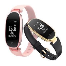 banda de empuje Rebajas S3 Smart Wristbands Fitness Pulsera Monitor de Ritmo Cardíaco Activity Tracker Smartwatch Band Mujeres Ladies Watch para IOS Android Phone