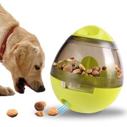 2019 frisbee di plastica animale domestico Giocattoli per cani da compagnia Alimentatori automatici a sfera per la fuoriuscita degli attrezzi Alimentatori a pallina per morso resistenti al PVC