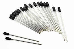 10 adet / grup kristal tükenmez kalem çekirdek dolum için dolum çubuk kartuşu mürekkep şarj siyah mavi renk isteğe bağlı nereden