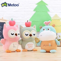 Wholesale Animal Comforters - Metoo Cute Magic Animal Stuffed Plush Doll Comforter Toy Toys For Girls Children Birthday Christmas Gift Bear Kawaii Doll